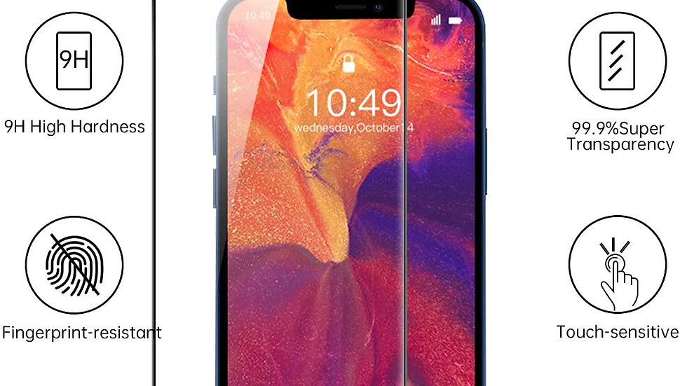 KMHENZ Tempered Glass Screen Saver Compatible With iPhone 12 Pro Max