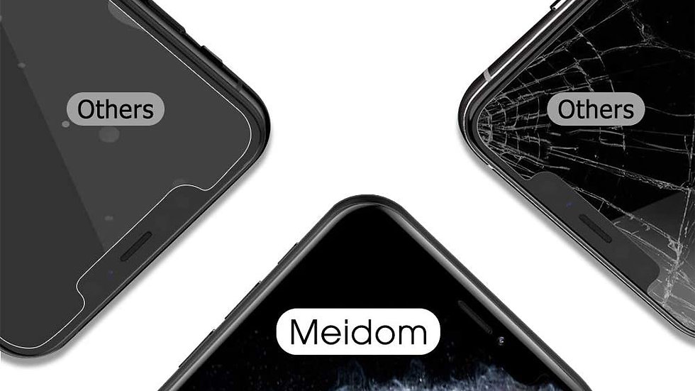 Meidom Screen Protector for iPhone 11 Pro Max [Fit All Cases] Bubble-Free