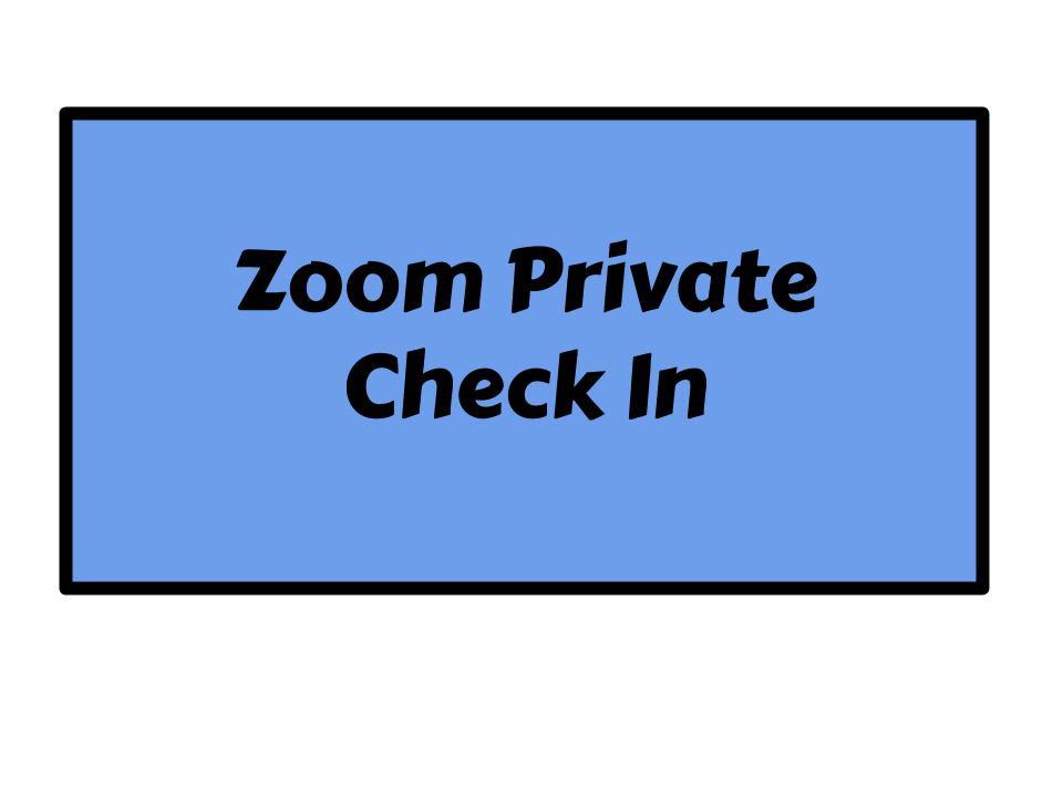 Zoom Private Check In