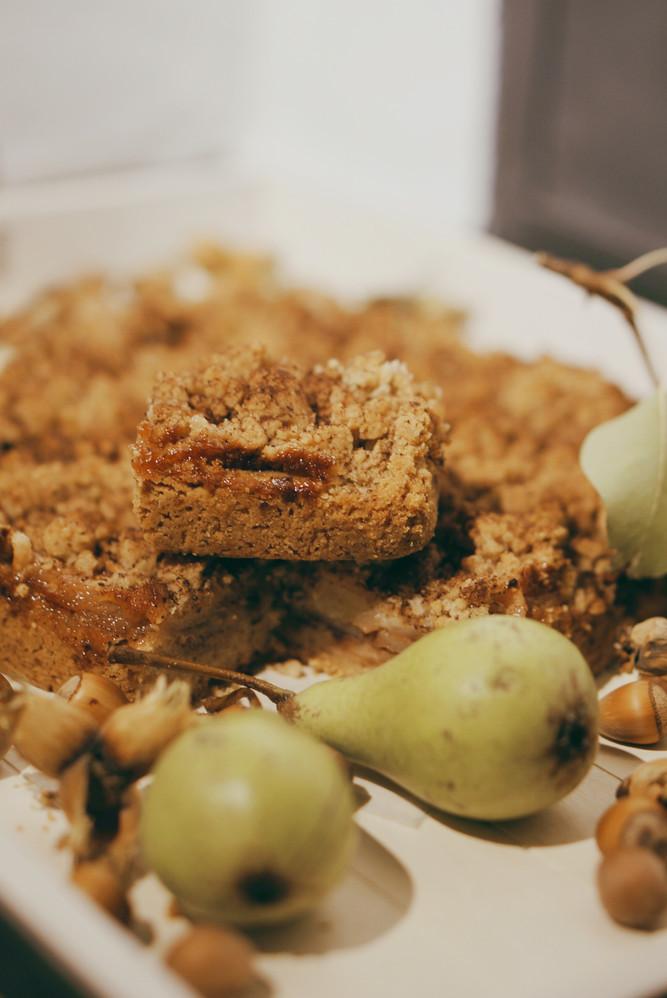 Birnen-Haselnuss-Kuchen