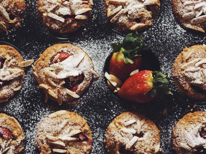 Erdbeeren-Apfel-Muffin