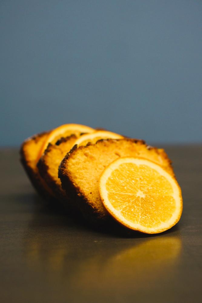 Orangen-Mais-Cake