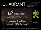 Quadrant is a finalist for the Business Excellence Awards 2018