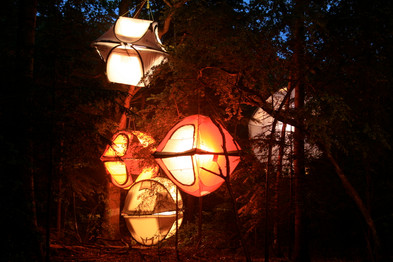 the tent lamps