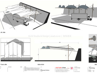 Tensile Structure - New Lynn Warehouse Container Storage Shelter