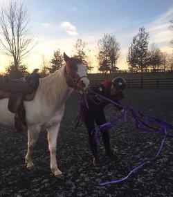Mary Elena Moran, mounted police officer and Harmony Horsemanship Level 3 trainer.