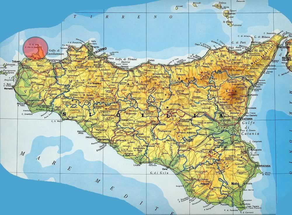 San Vito Lo Capo - Sicilia Map