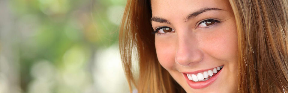 young woman with a beautiful smile.