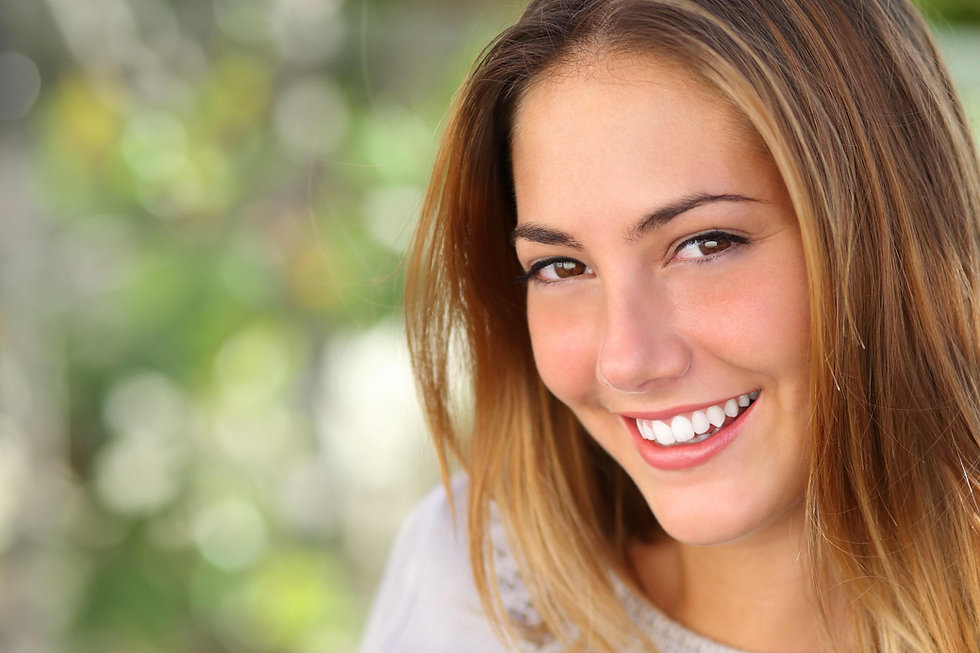 Senhora de sorriso