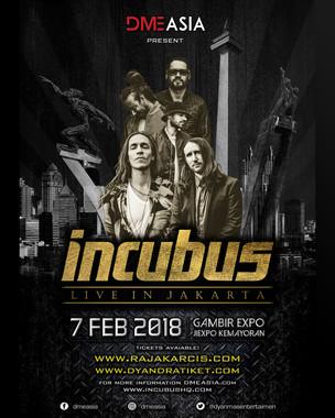 Band rock Asal Amerika INCUBUS Siap Kembali Mengguncang Jakarta!