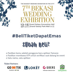 Beli Tiket Bekasi Wedding Exhibition 2019, Dapet Emas!