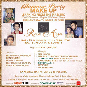 Learning Glamour Party Makeup with Reza Azru
