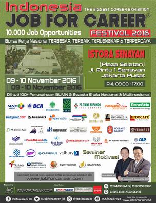 10 Ribu Kesempatan Kerja Di Indonesia Job For Career Festival 2016