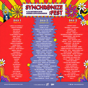 Ini Dia 129 Artis Penampil Synchronize Festival 2019
