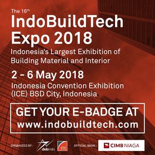 "Indobuildtech Expo 2018 Dukung ""Sustainable Urban Development"""