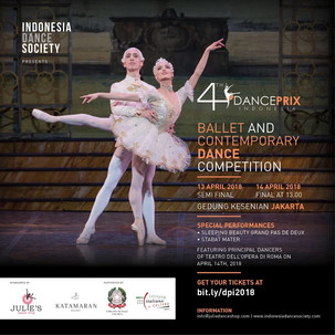 DANCE PRIX INDONESIA 2018 4th Ballet & Contemporary Dance Competition