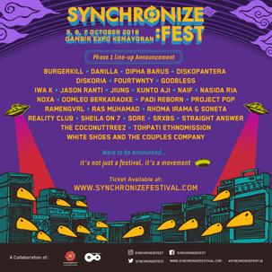BERSIAP! INILAH SYNCHRONIZE FESTIVAL 2018
