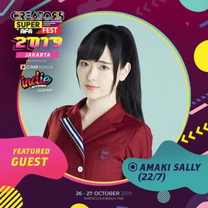 CREATORS SUPER FEST 2019 JAKARTAFeatured Guest: Amaki Sally