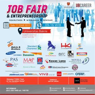 Universitas Bakrie Selenggarakan Job Fair & Entrepreneurship Day: Rekrutmen ⋆ Wirausaha ⋆ Semina