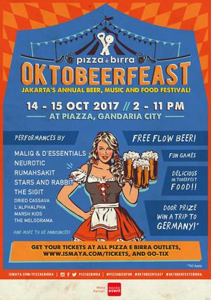 PIZZA E BIRRA OKTOBEERFEAST 2017 Jakarta's Annual Beer, Music And Food Festival!