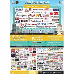 Job Fair UNTAR, 2-4 March 2017. Free Entry!