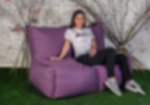 Бескаркасный диван.Материал мебельная рогожка.jpg