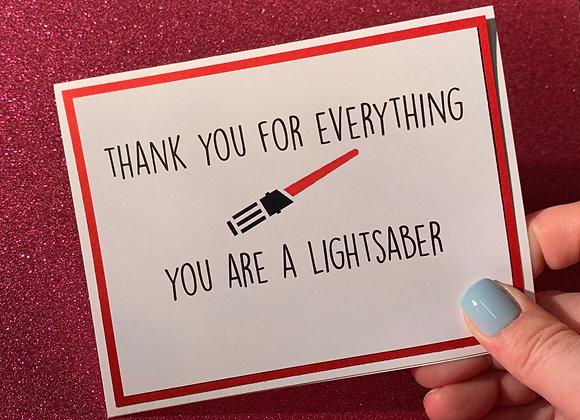 Lightsaber Snarky Card