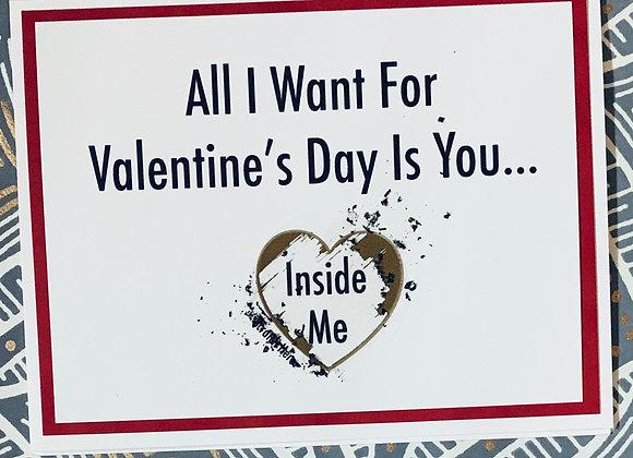 Inside Me Valentine's Scratch Off Snarky Card