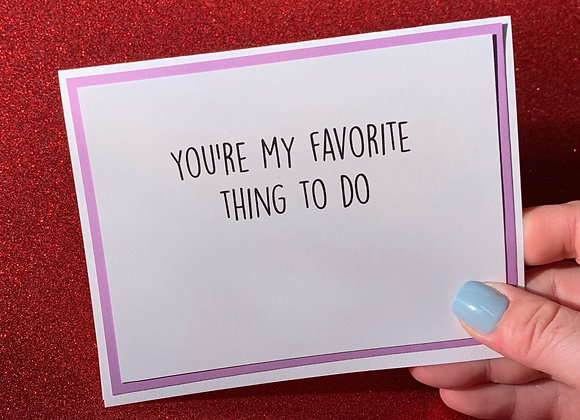 Thing To Do Snarky Card