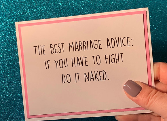 Fight Naked Snarky Card
