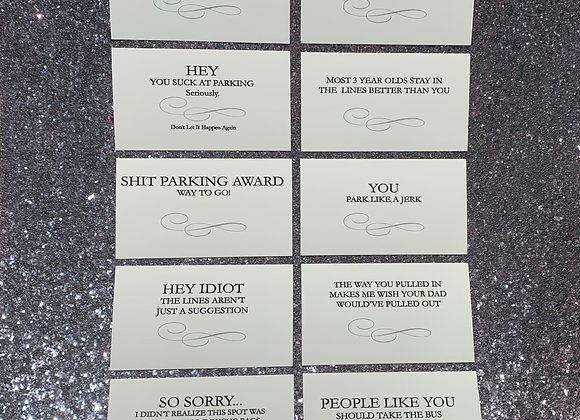 Variety Pack Parking Cards
