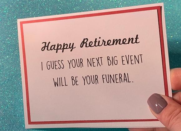 Big Event Snarky Card