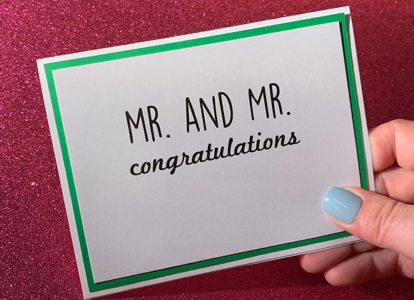 Mr And Mr Snarky Card
