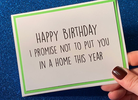 Home This Year Snarky Card