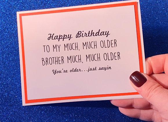 Older Brother Snarky Card