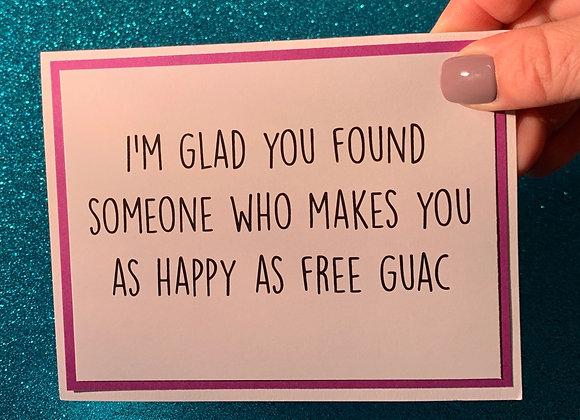 Free Guac Snarky Card