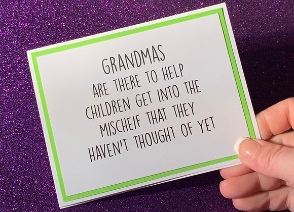Grandmas Snarky Card