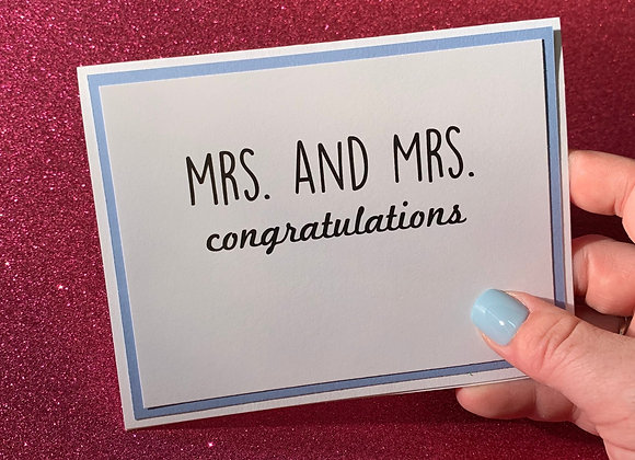Mrs And Mrs Snarky Card