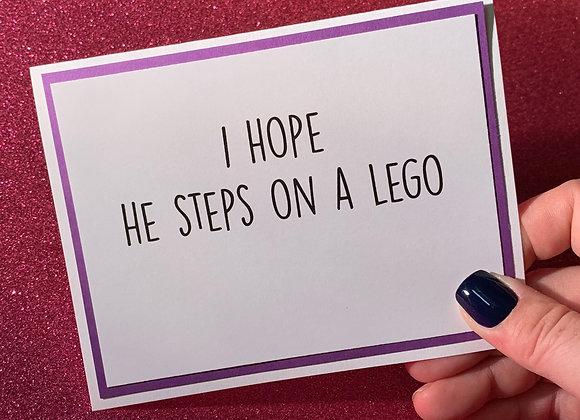 Steps On Lego Snarky Card