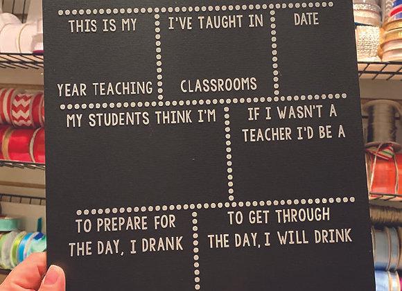 Teacher Chalkboard