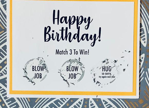 Birthday Hug Scratch Off Snarky Card