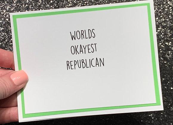 Republican Snarky Card