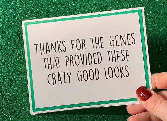 Good Looks Snarky Card