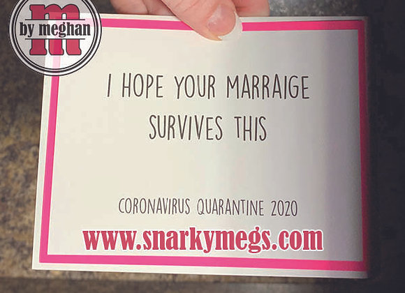 Coronavirus Card - Marriage Survives