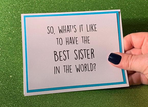 Best Sister Snarky Card