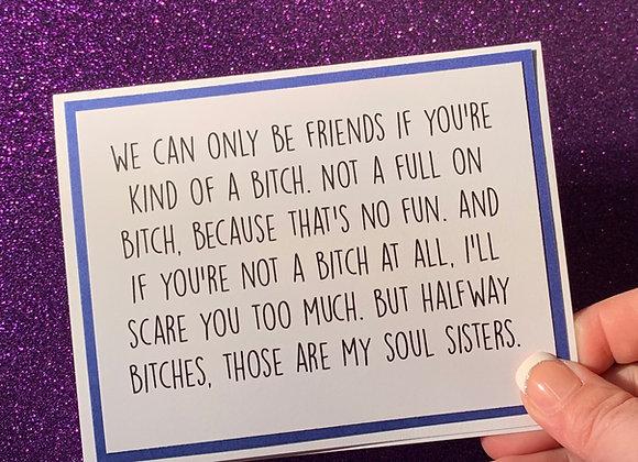 Soul Sister Snarky Card