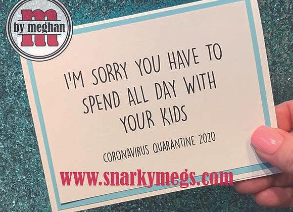 Coronavirus Card - With Kids