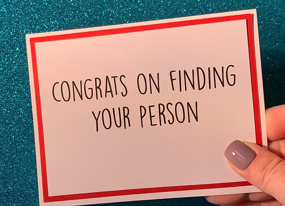 Finding Your Person Snarky Card