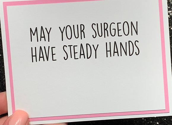 Steady Hands Snarky Card