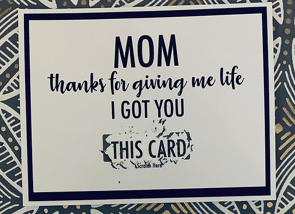 Giving Me Life Scratch Off Snarky Card